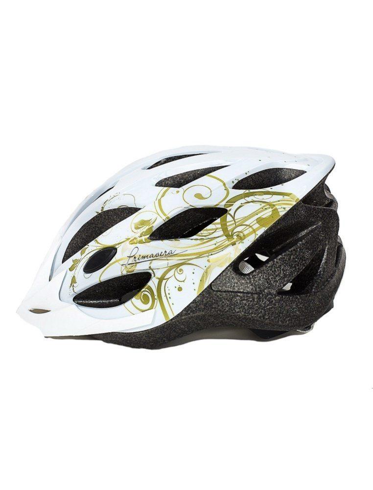 Шлем женский, 19 вент. отверстий, размер L(58-61), цвет белый