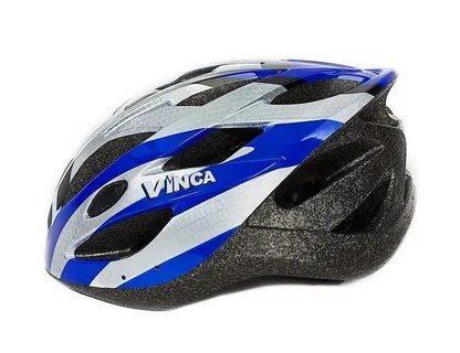 Шлем взрослый, 19 вент. отверстий, размер M(56-59), цвет белый с синим