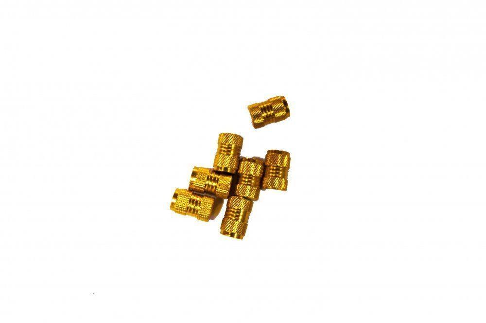 Колпачок для ниппеля DM-KWX12, сталь, хром, желтый