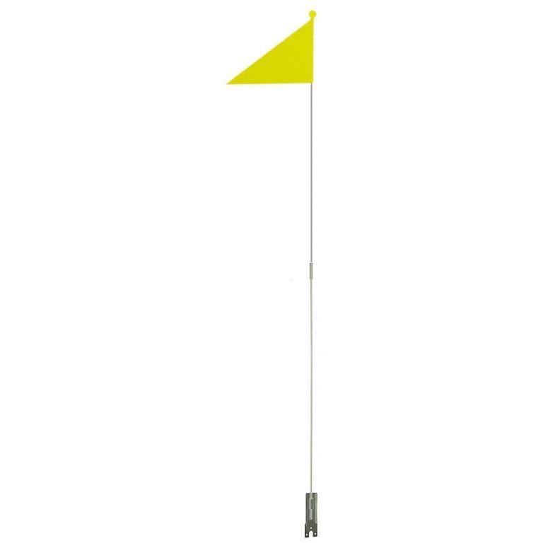 Флажок 5-120975 треуг.светоотр.шток 150см крепл. за зад.ось желт.разборн.M-WAVE 4758